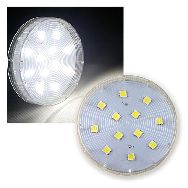 led leuchtmittel gx53 daylight wei 230v gx 53. Black Bedroom Furniture Sets. Home Design Ideas