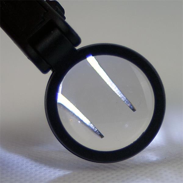 Echt-Glas Lupe mit 10-facher Vergrößerung für sicheres Greifen
