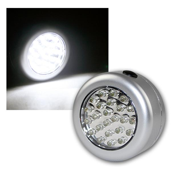 LED Touchlampe silber 24 LEDs weiß Batteriebetrieb