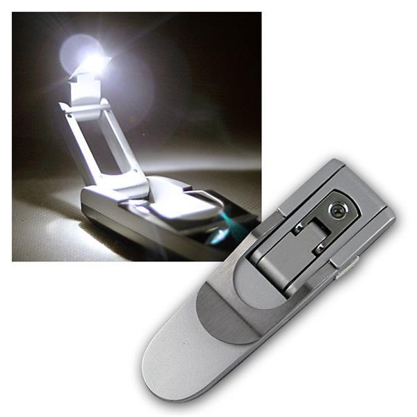 LED Leselampe mit Batterien, Leseleuchte & Klemme