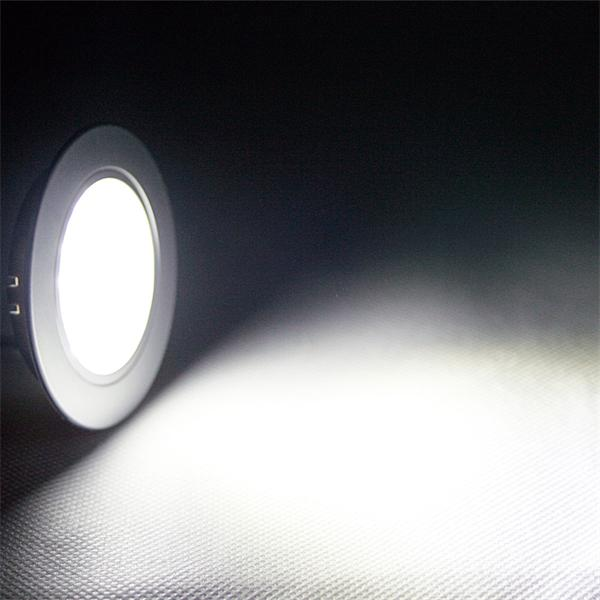 LED Einbauspot 12V rund mit 24x SMD-LEDs und 180lm Lichtstrom