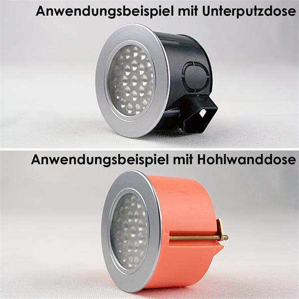 LED Leuchtmittel ideal für Hohlwand- und Standard-Unterputzdosen