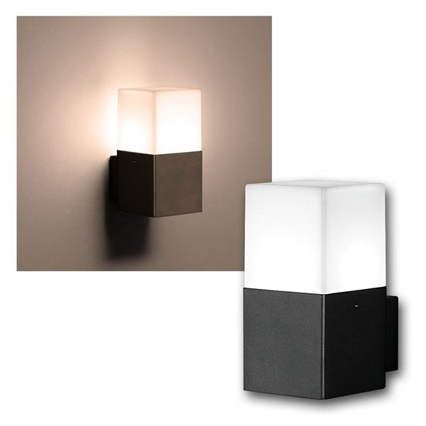 LED Wandleuchte HUDSON anthrazit 310lm 1-flammig