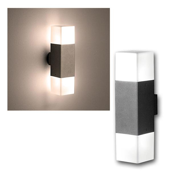 LED Wandleuchte HUDSON titanfarb 310lm 2-flammig