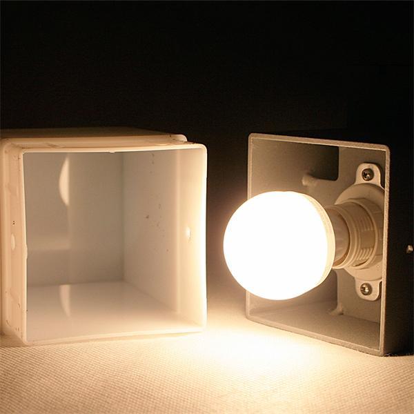 LED Wandstrahler mit zweiseitig vertikal abstrahlendem Licht