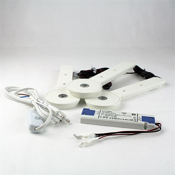 LED-Schrankbeleuchtung Komplett-Set als idealer Ersatz für Halogenleuchten