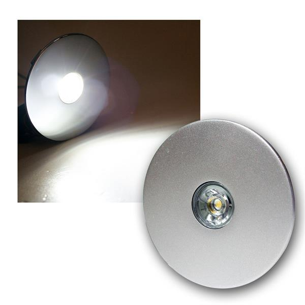 3W LED-Einbauleuchte Titan-Optik, rund, kaltweiß