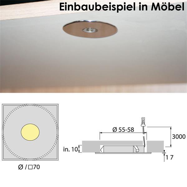 LED Strahler mit Mini-Steckverbindung zum Anschließen