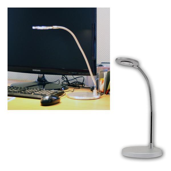 LED-Schreibtischleuchte matt-Chrom warm weiß 220lm
