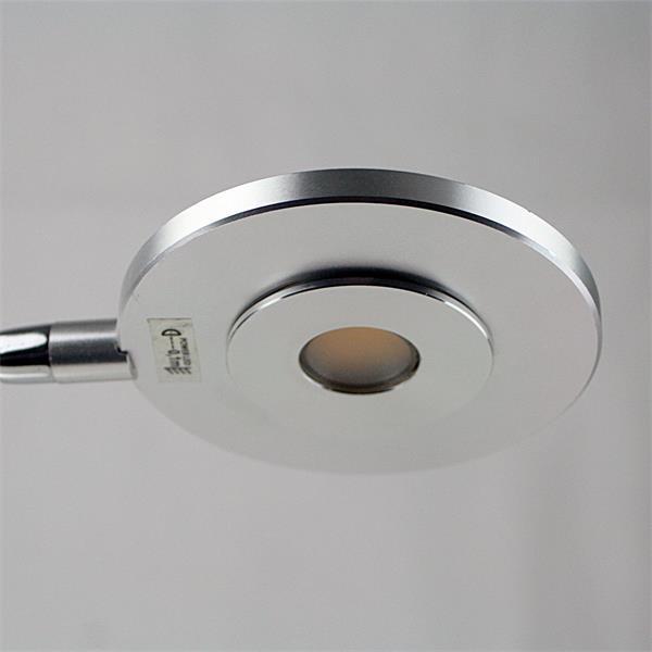 LED Leseleuchte moderne Optik in mattem Chrom