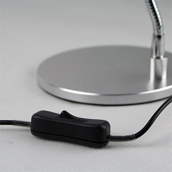 230V LED Leselampe mit separatem Ein-/Ausschalter am Netzkabel