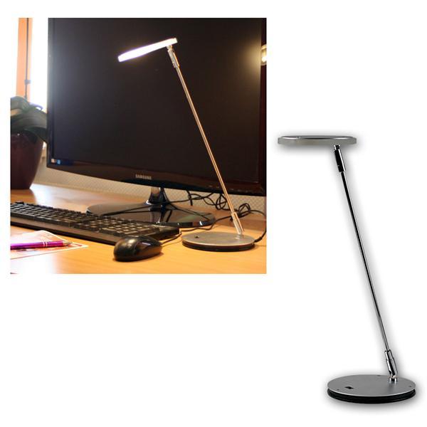 LED-Tischleuchte 3W matt-Chrom warm weiß 220lm