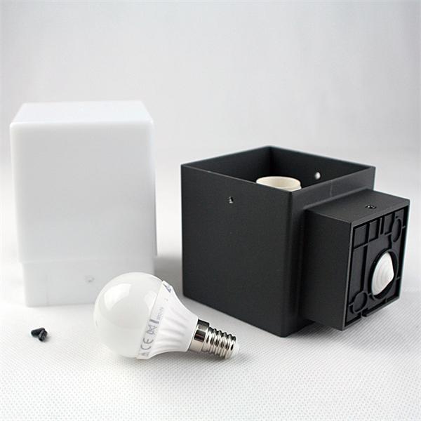 LED Außenleuchte mit E14 Leuchtmittel und zeitlosen Design