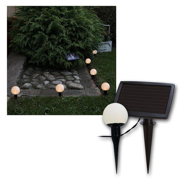 """LED Solar-Lichterkette """"6 Bälle"""", warmweiß ca. 5m"""