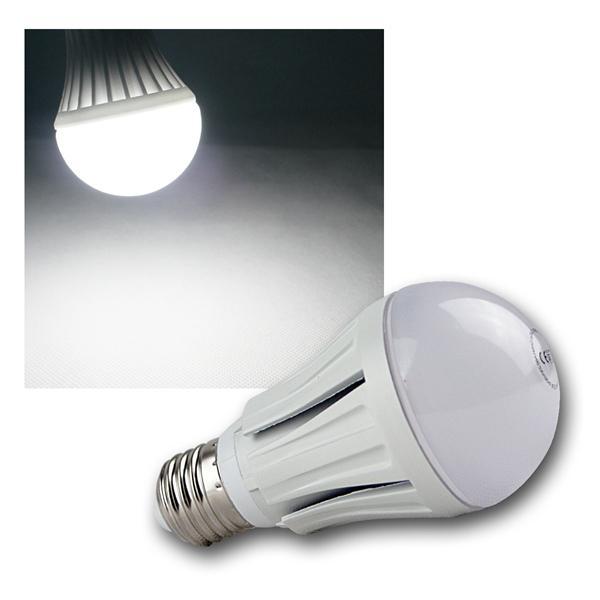 LED-Glühlampe E27 G50 SMD kalt weiß 510lm 12 SMDs