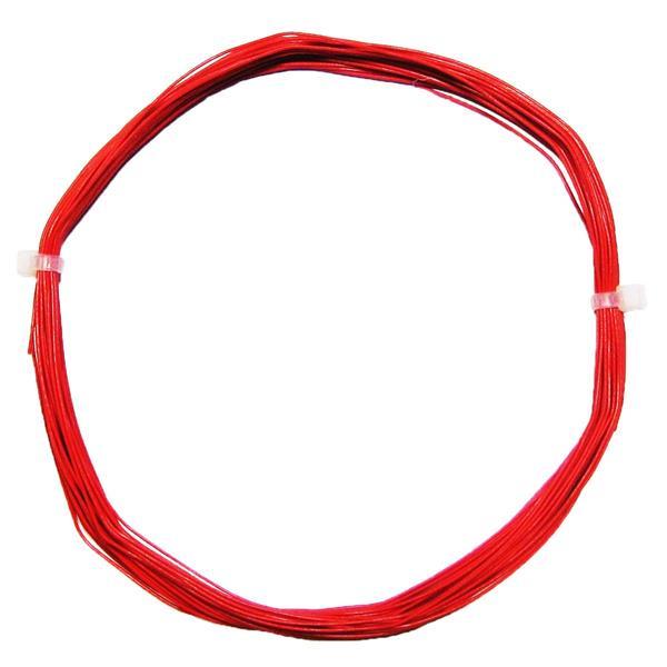 10m Litze flexibel rot 0,5mm/0,04mm²