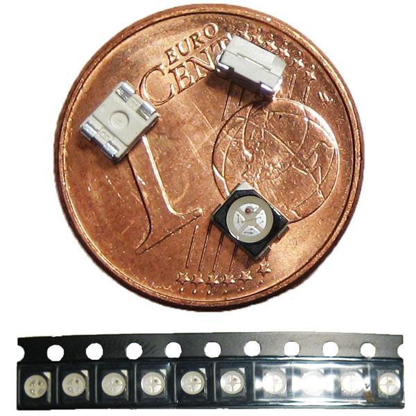 RGB 3-Chip LEDs im 10er Set in praktischer Verpackung
