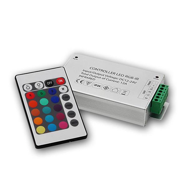 LED RGB Controller, IR-Fernbedienung, 3x4A 12/24V