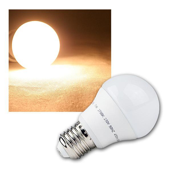 E27 LED Birne Leuchtmittel 230V 7W warm weiß 470lm
