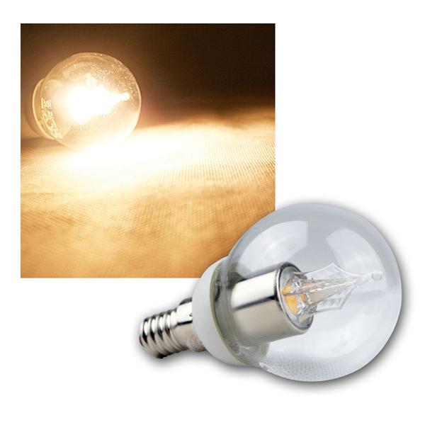 E14 Kristall LED Birne 230V 3,5W warm weiß 210lm