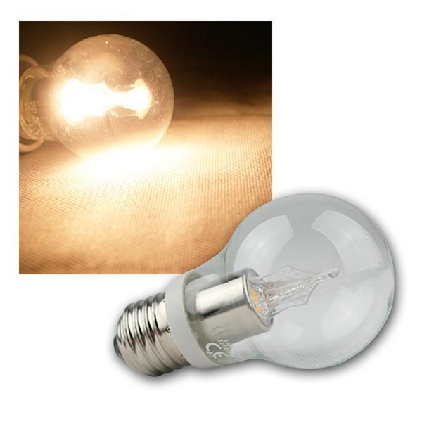 E27 Kristall LED Birne 230V 3,5W warm weiß 210lm
