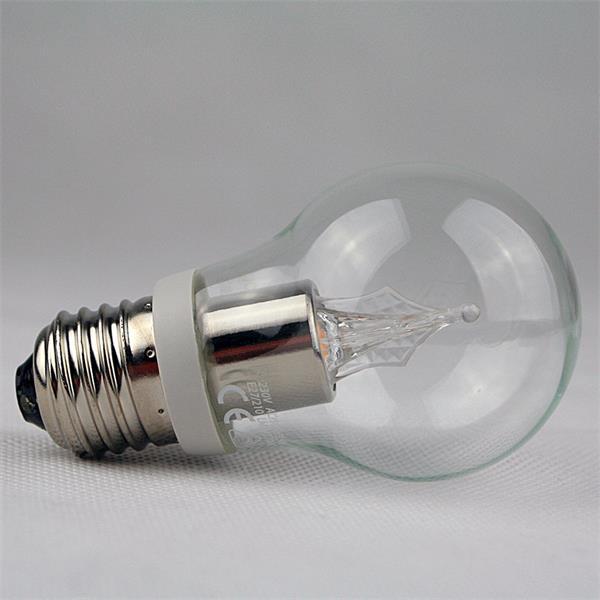 LED Strahler mit 1x Highpower LED in Glühbirnenform mit Glaskörper