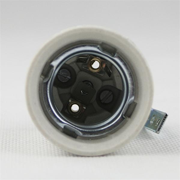 Porzellanfassung für Leuchtmittel mit einem E27 Sockelgewinde