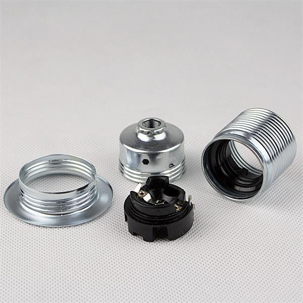 E27 Fassung mit Metall-Schraubring für eigene Lichtinstallation