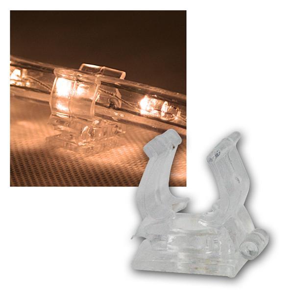 10er Pack Halteclips für Lichtschlauch,Befestigung