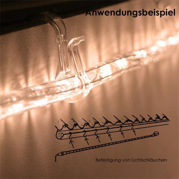 LED Leuchtketten werden einfach in die Halterung gedrückt