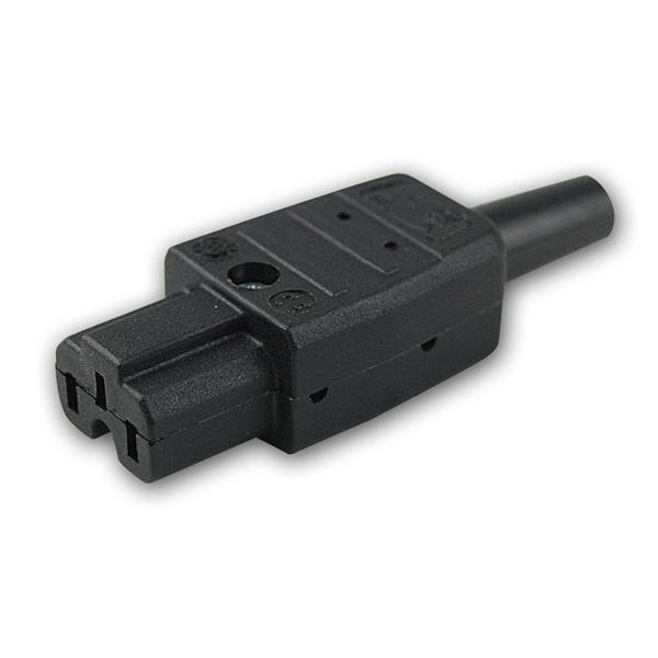 Stecker fü Heißgeräte-Steckgeräte 230V/10A schwarz