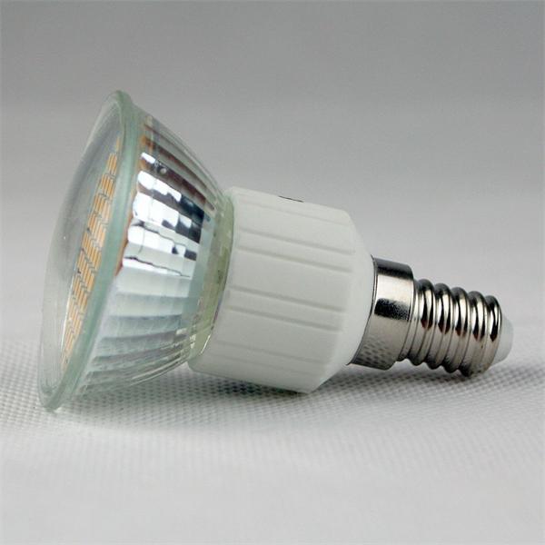 LED Lampe mit dem Maß 50x75mm und abschließender Front mit Glas-Cover
