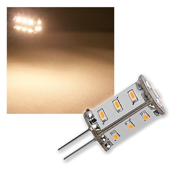 LED-Stiftsockellampe G4 15 SMDs warm weiß 89lm 12V
