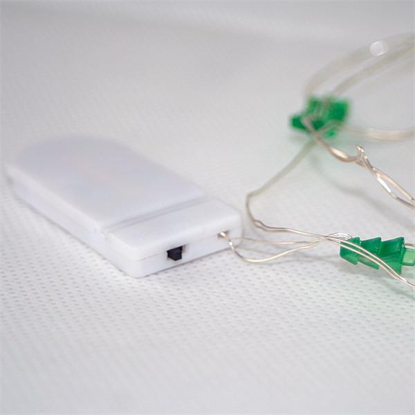 LED Drahtlichterkette mit Tannenbäumen für die Weihnachtsdeko