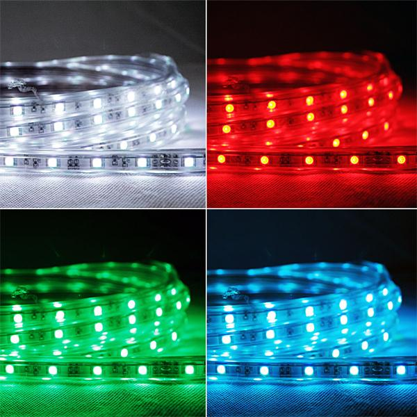 5m led lichtband rgb multicolor 230v ca 65w. Black Bedroom Furniture Sets. Home Design Ideas