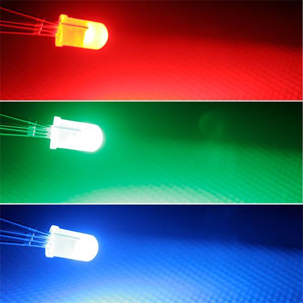 5mm LED mit breit abstrahlenden Öffnungswinkel, 3 Farben