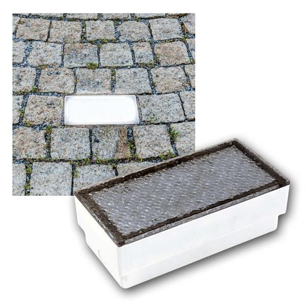 LED Boden-Einbauleuchte Pflasterstein 20x10cm 230V