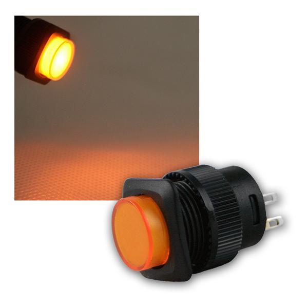 Druckschalter mit LED-Beleuchtung ORANGE, 1A/250V