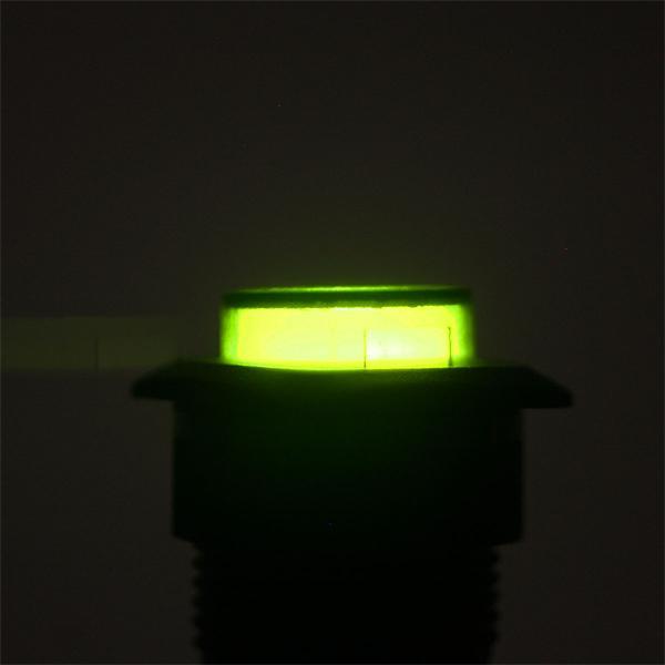 Button Schalter mit flacher, grün beleuchteter Kopfoberfläche