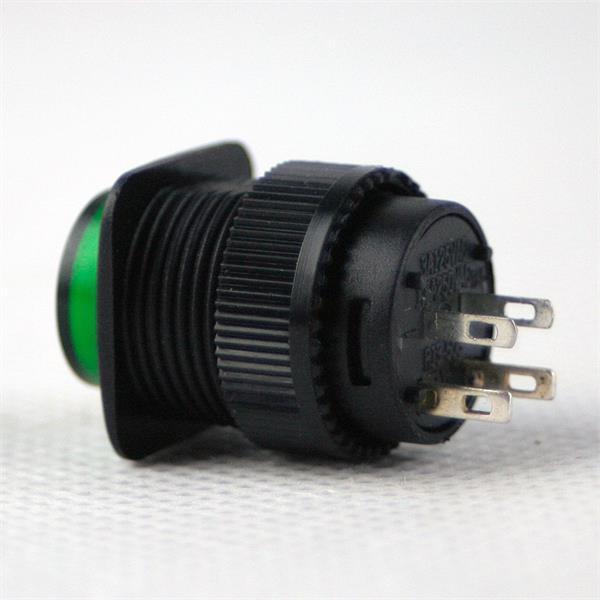 Schalter mit Ein- und Ausrastfunktion, Schaltleistung von maximal 250V/1A