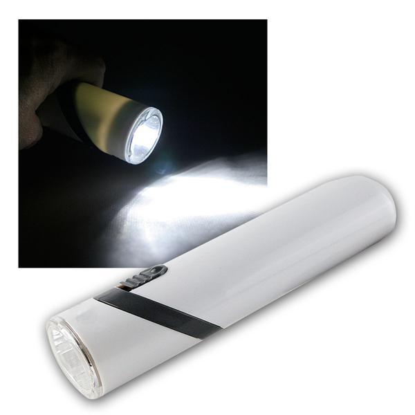 Akku-Taschenlampe, 3 LEDs, Kopf 90° schwenkbar