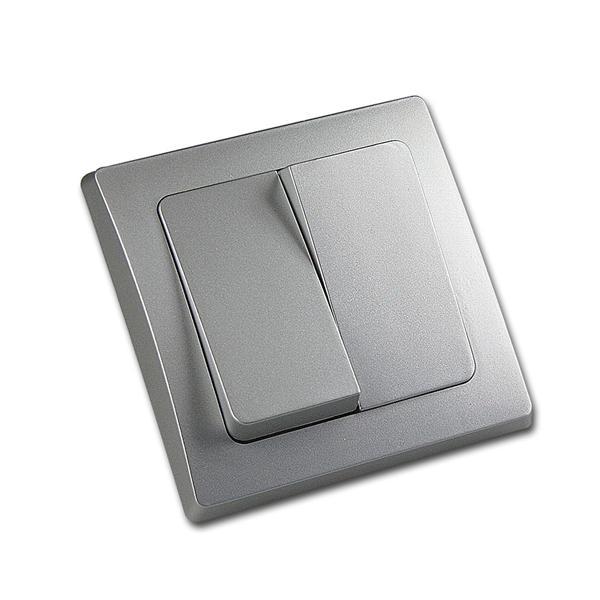 DELPHI 2-fach Serien-Schalter 250V~/ 10A UP silber