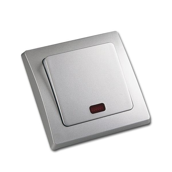 DELPHI Kontroll-Schalter 250V~/ 10A, UP, silber