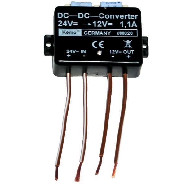 Spannungswandler von 24V DC zu 13,8V DC 1,1A