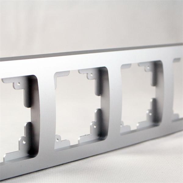 Rahmen 4-fach silber mit elegantem, kratzfestem Design