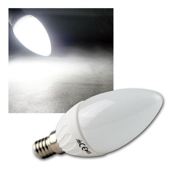 LED Kerzenlampe E14 K50 kalt weiß 420lm 5W