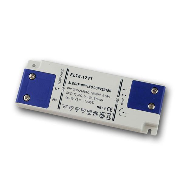 elektron. LED SuperSlimLine-Trafo 12V DC 6W IP20