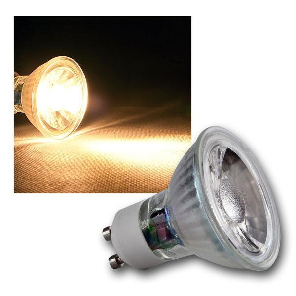 GU10 LED Strahler H35 COB Glas warm weiß 230lm