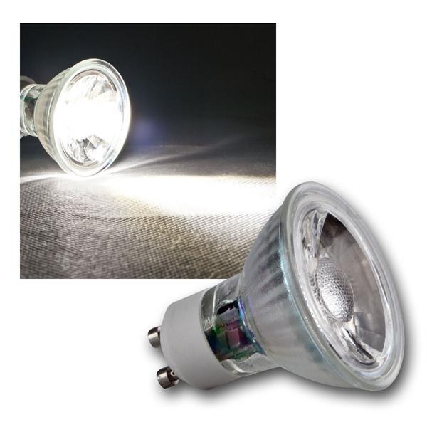 GU10 LED Strahler H35 COB Glas daylight 250lm