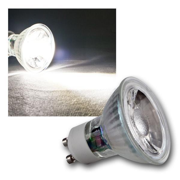 GU10 LED Strahler H50 COB Glas daylight 420lm